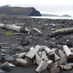 The barrier separating Nordlaguna from the sea, Jan Mayen