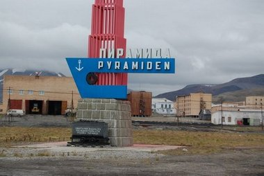 Pyramiden mine, a ghost town on Svalbard